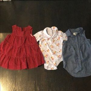 Lot of 3 toddler dresses/ tops